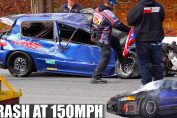1000HP CIVIC CRASH & FLIPS OVER AT 150MPH