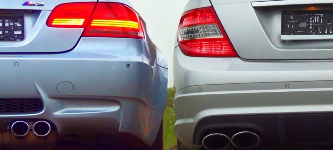 C63 Amg Vs Bmw M3 E92 Doing Some Pulls Turbo And Stance
