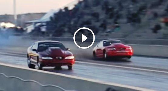 Mustang Drag Race crazy