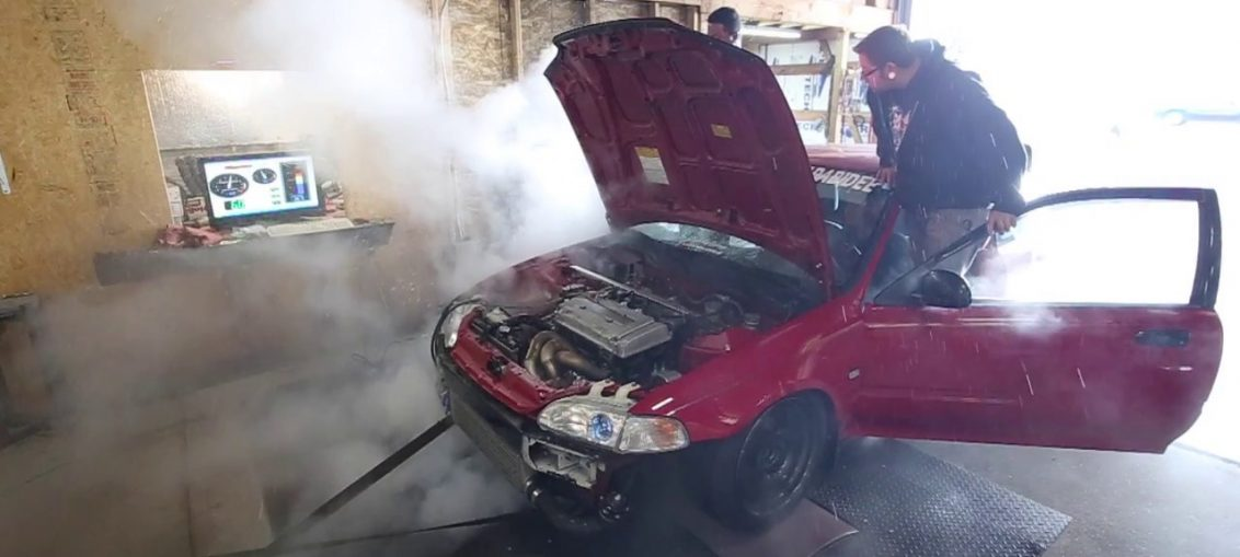 Civic blows on dyno