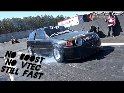 No VTEC... No BOOST.. Still A FAST Honda Hatch!