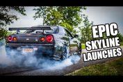 Skyline GT-R launches