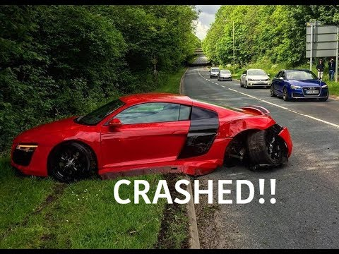 Audi R8 Crashes Leaving Preston Supercar Meet
