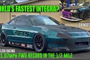 WORLD'S FASTEST INTEGRA? 201.07mph FWD Record – ENGLISH RACING