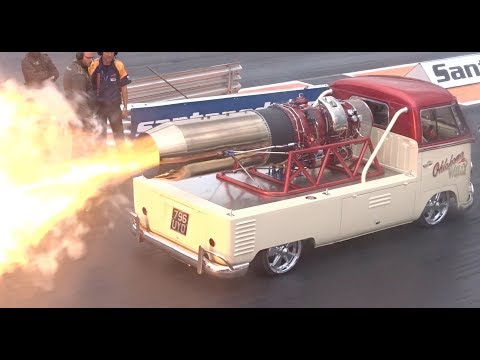 Jet powered vw bus