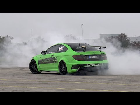 Mercedes-Benz C63 AMG Coupe TIP Exclusive - BURNOUT!