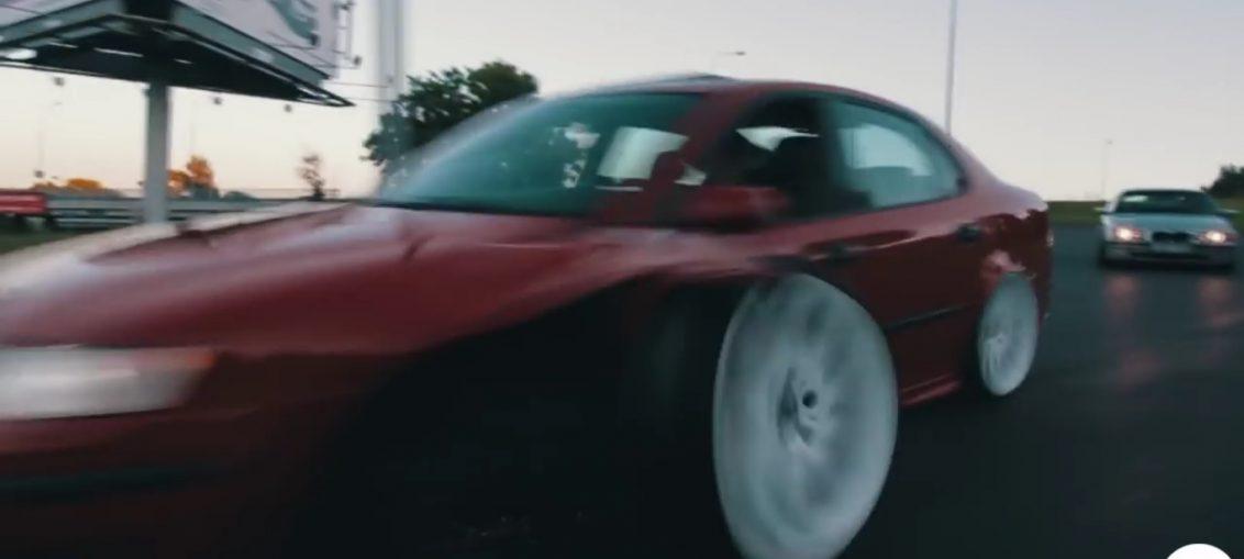 Saab 9-3 Fail Crash Turbo Stance