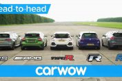 RS 3 v A45 AMG v Civic Type R v Golf R v Focus RS - DRAG & ROLLING RACE