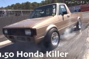 Vw caddy drag race 16v