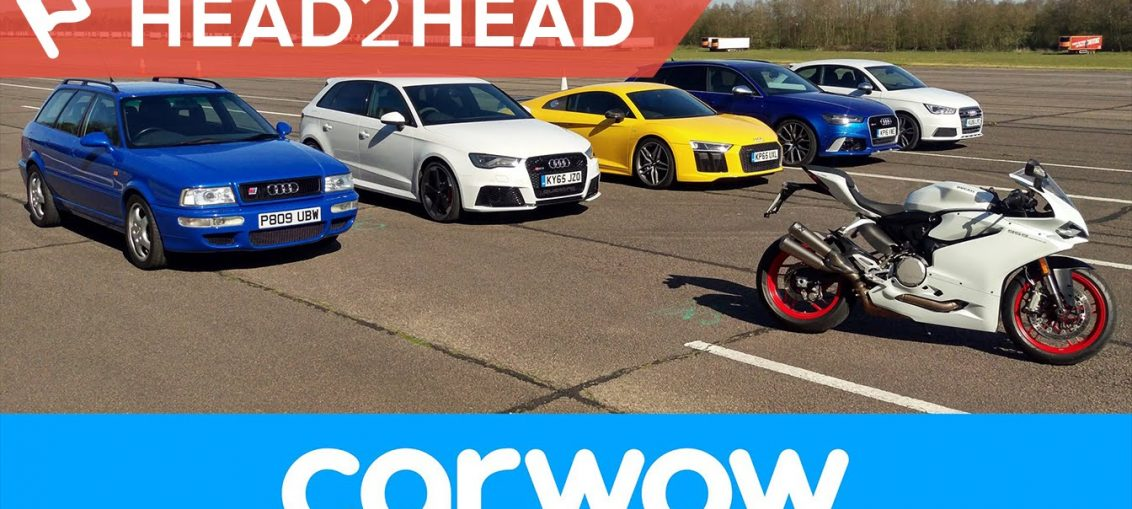 Audi drag race r8 rs3 rs4 s1 rs2