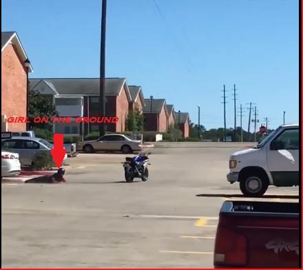 biker girl accident