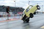 Fiat 500 drag race crash