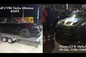 VR6 Turbo 850HP vs Nissan R35 GT-R Materialmord 1200HP