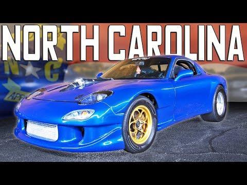 north carolina street racing rx7 corvette