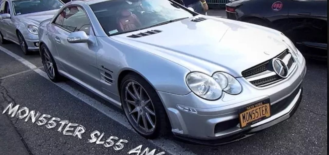 MON55TER SL55 Mercedes AMG Dig & Roll Racing On E-85 - Turbo and Stance