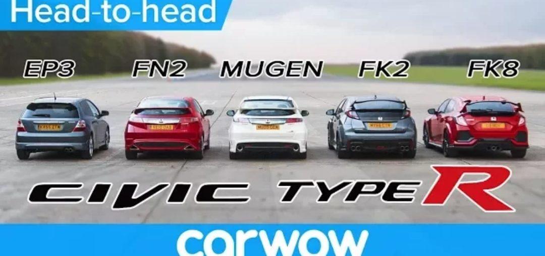 Type R comparison EP3 FN2 Mugen FK2 FK8