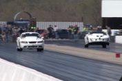 Pontiac Firebird drag race wheelie