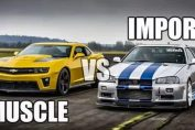 jdm imports vs muscle cars