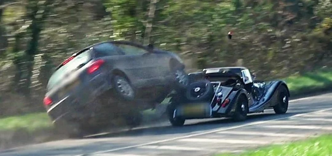 Morgan Pulls Out On Car - HUGE IMPACT! - Turbo and Stance