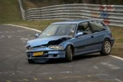 Nordschleife CRASH Honda Civic - 08 04 2018 Touristenfahrten Nürburgring