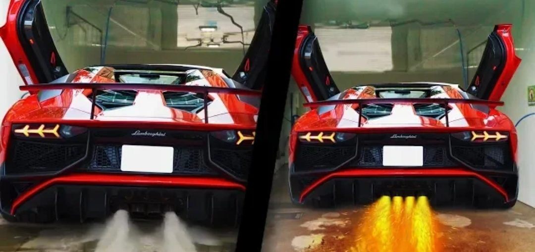 CARS Spitting WATER and FLAMES