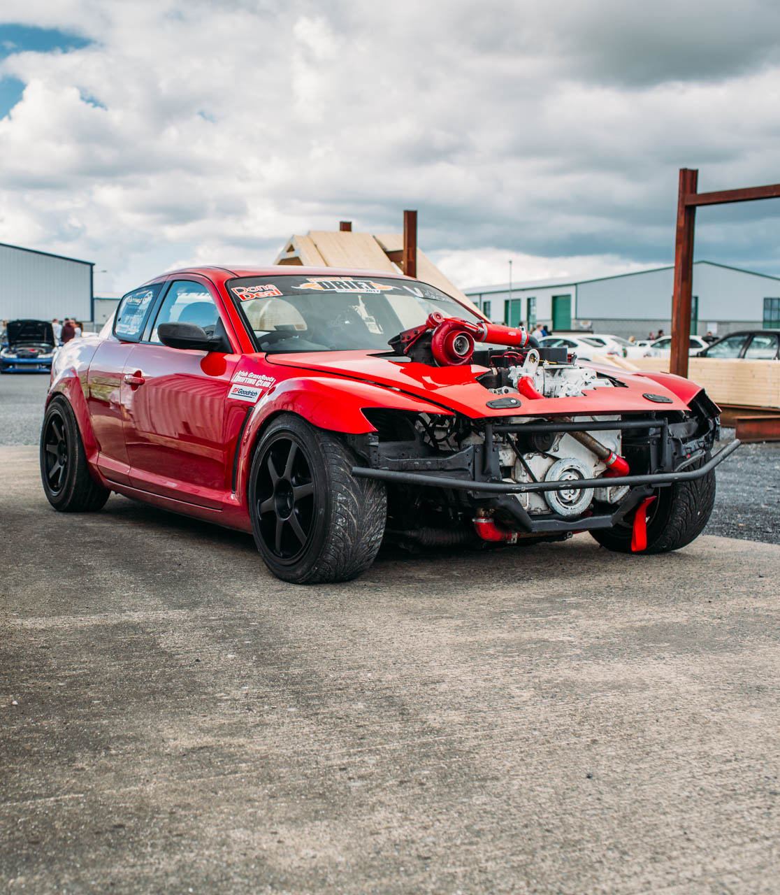 A Mazda RX-8 drift car with a Cummins Diesel swap? - Turbo and Stance