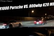 800whp K20 MR2 VS. AIM1000 997TT Porsche