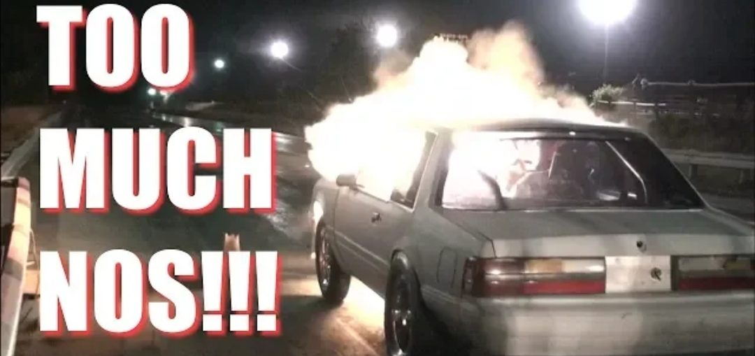 HUGE NITROUS BACKFIRE