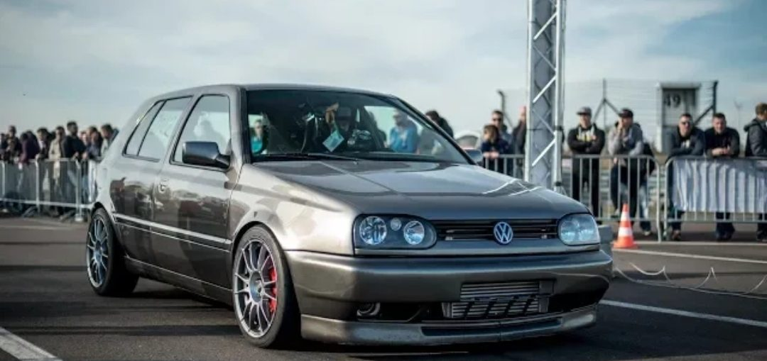 950HP VW Golf 3 VR6 Turbo 290 KM/H @ TTT Half Mile Finals