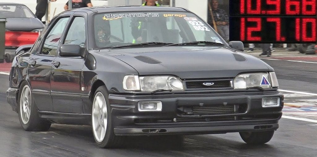 Sierra Cosworth drag turbo stance