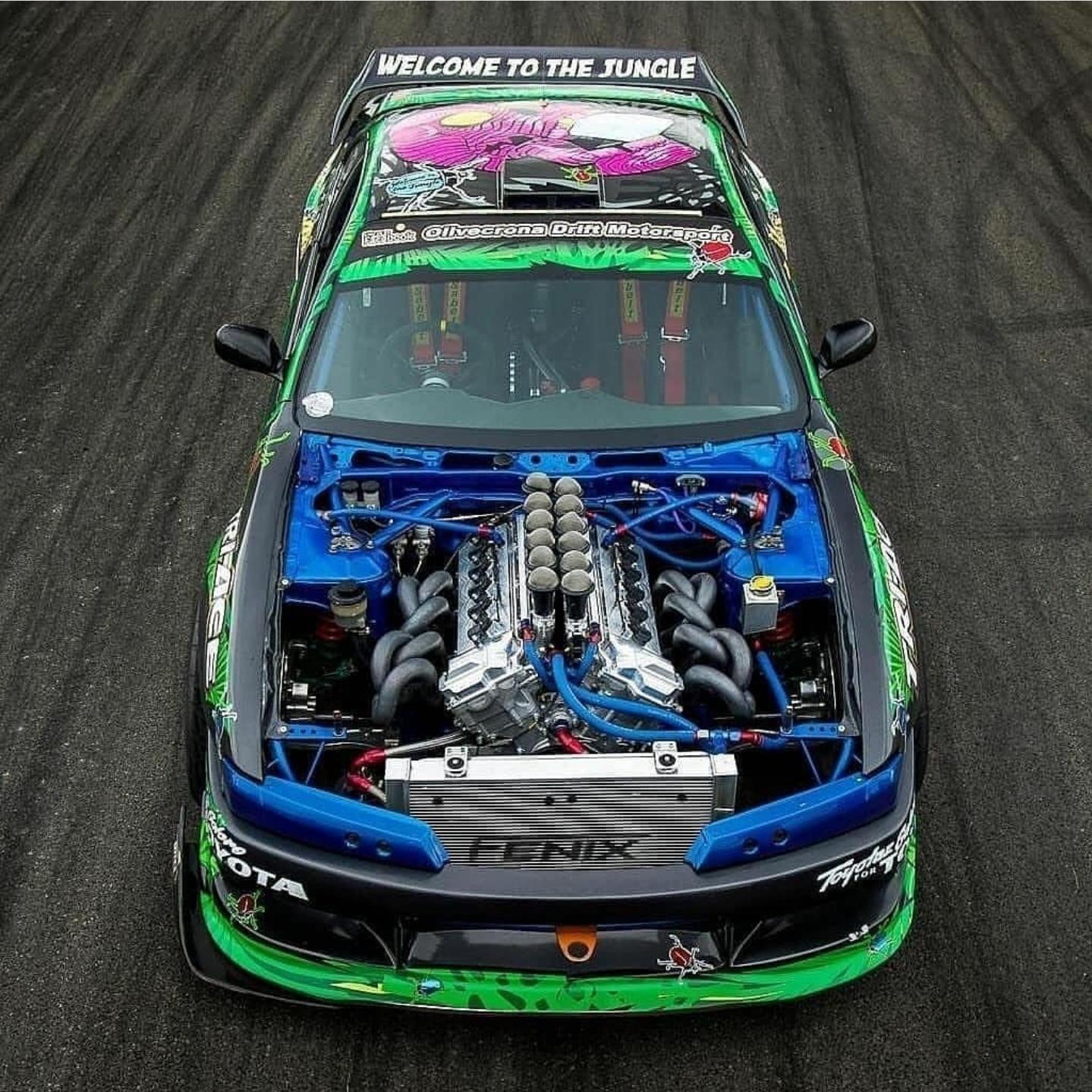 Nissan Silvia S14 V12 Powered Drift Car