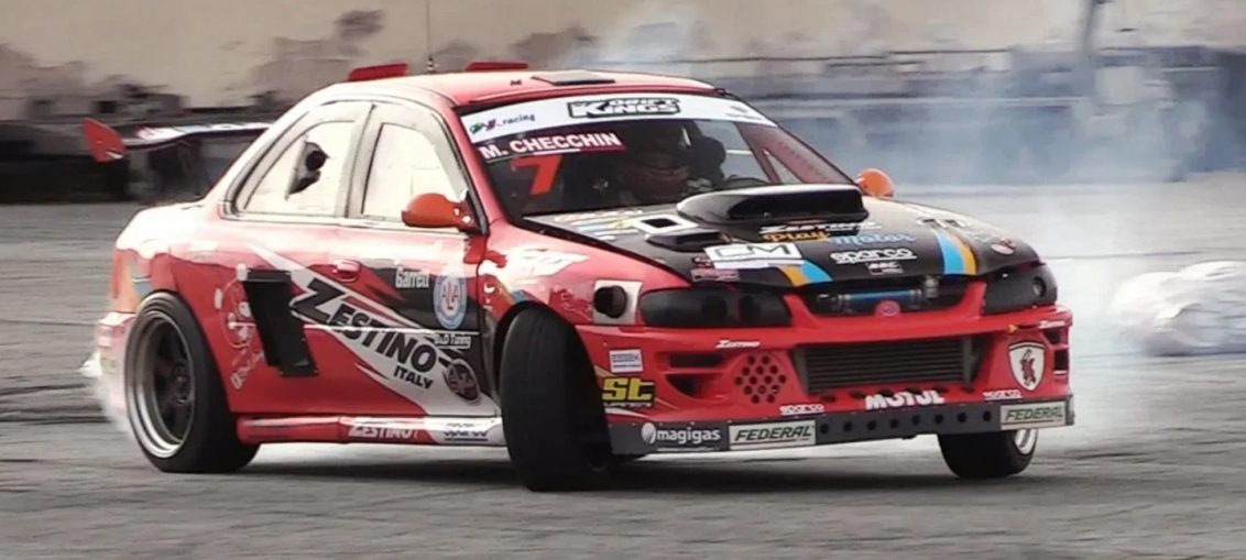Single Turbo 2JZ-Swapped Subaru Impreza GC8 - Drifting, OnBoard