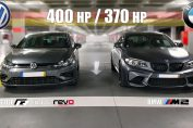 Golf R vs BMW M2