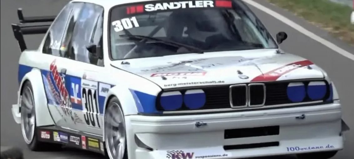 E30 BMW stanced sound rpm