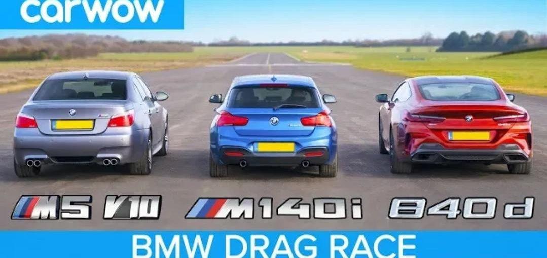 BBMW 840d vs M140i vs E60 M5 V10