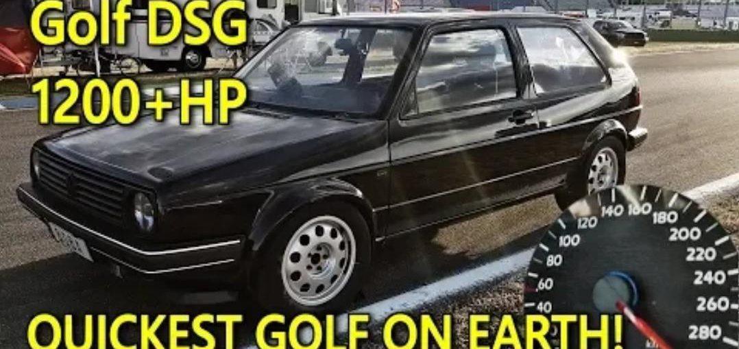DSG Golf Mk2 1233HP World Record