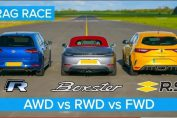AWD vs RWD vs FWD DRAG RACE