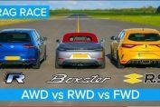 AWD vs RWD vs FWD DRAG RACE