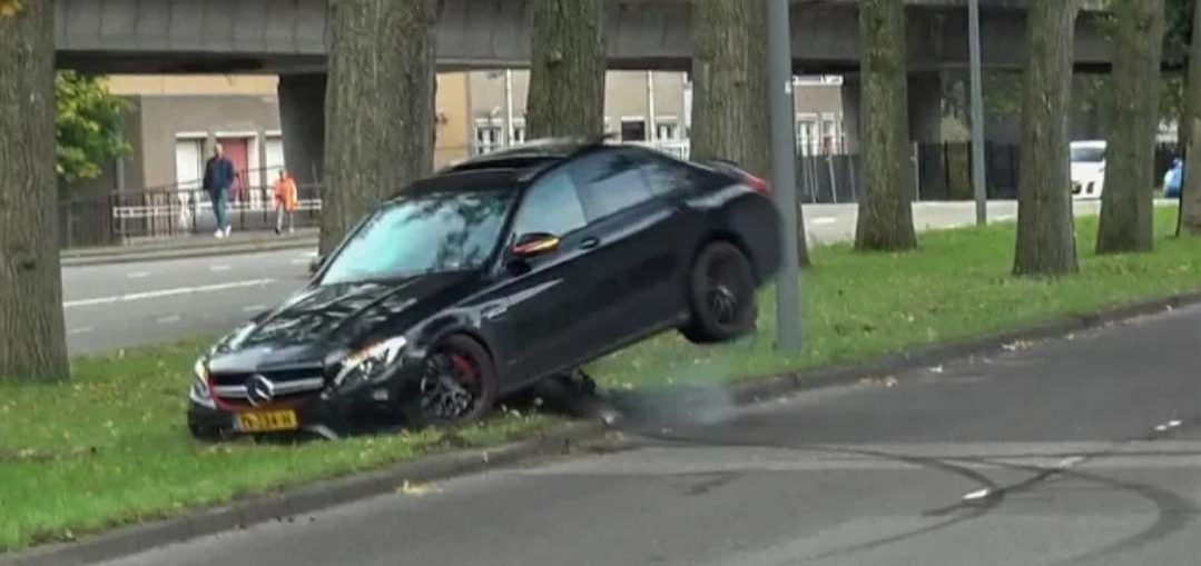 C63S AMG Hard Crash