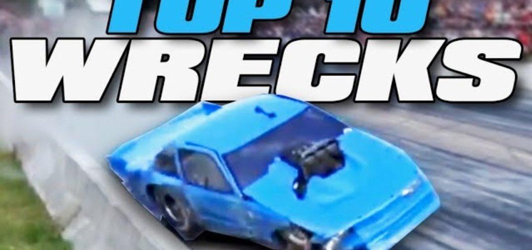 Drag racing wrecks