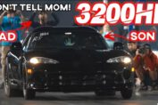 18 Year Old Kid Drives Dad's 3200HP