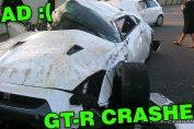 R35 GT-R crashes
