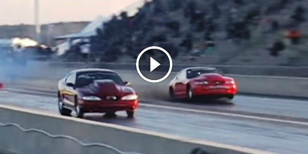Mustang Drag Race crazy