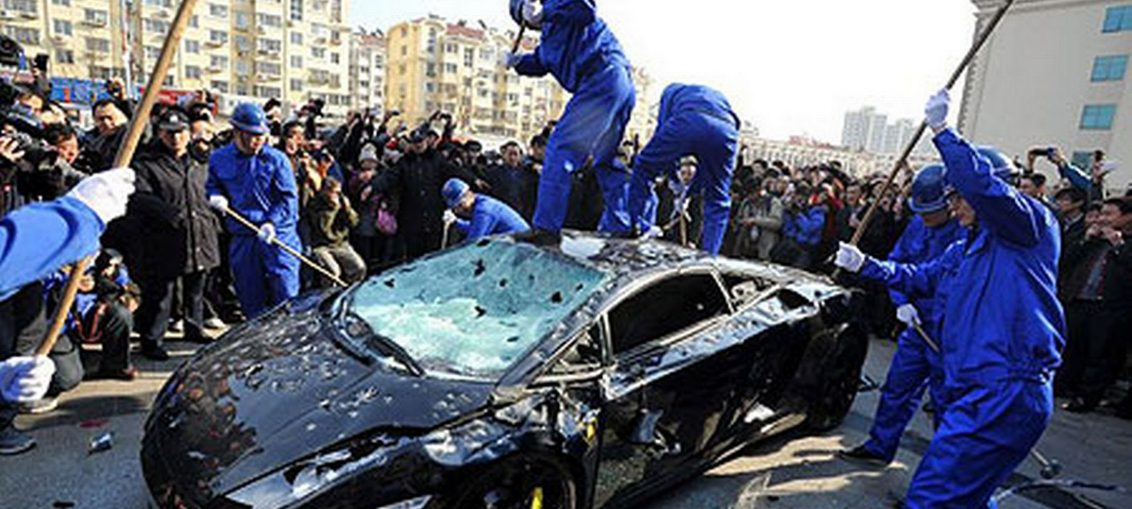 Supercars destroyed