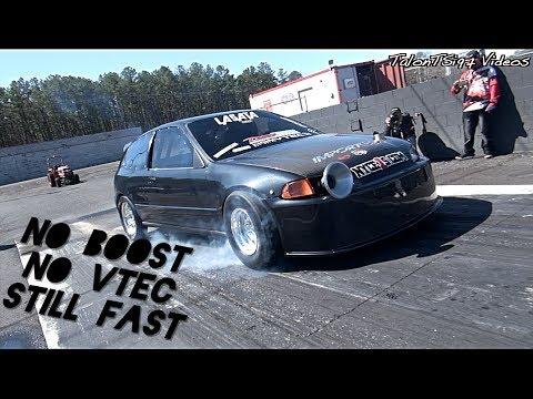 No VTEC... No BOOST.. Still A FAST Honda Hatch!