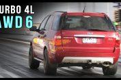 Ford Barra 4L I6 drag race