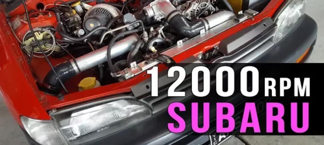 12000RPM Subaru Impreza wrx sti