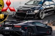 Lancer evo vs supercars