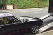 Mustang crash trailer loading