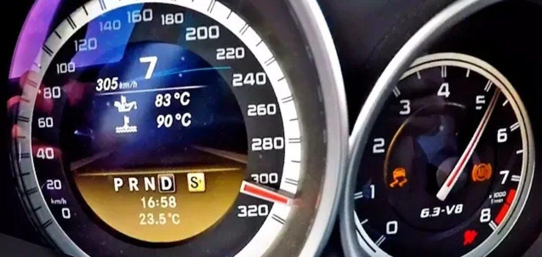 Tuned C63 amg acceleration
